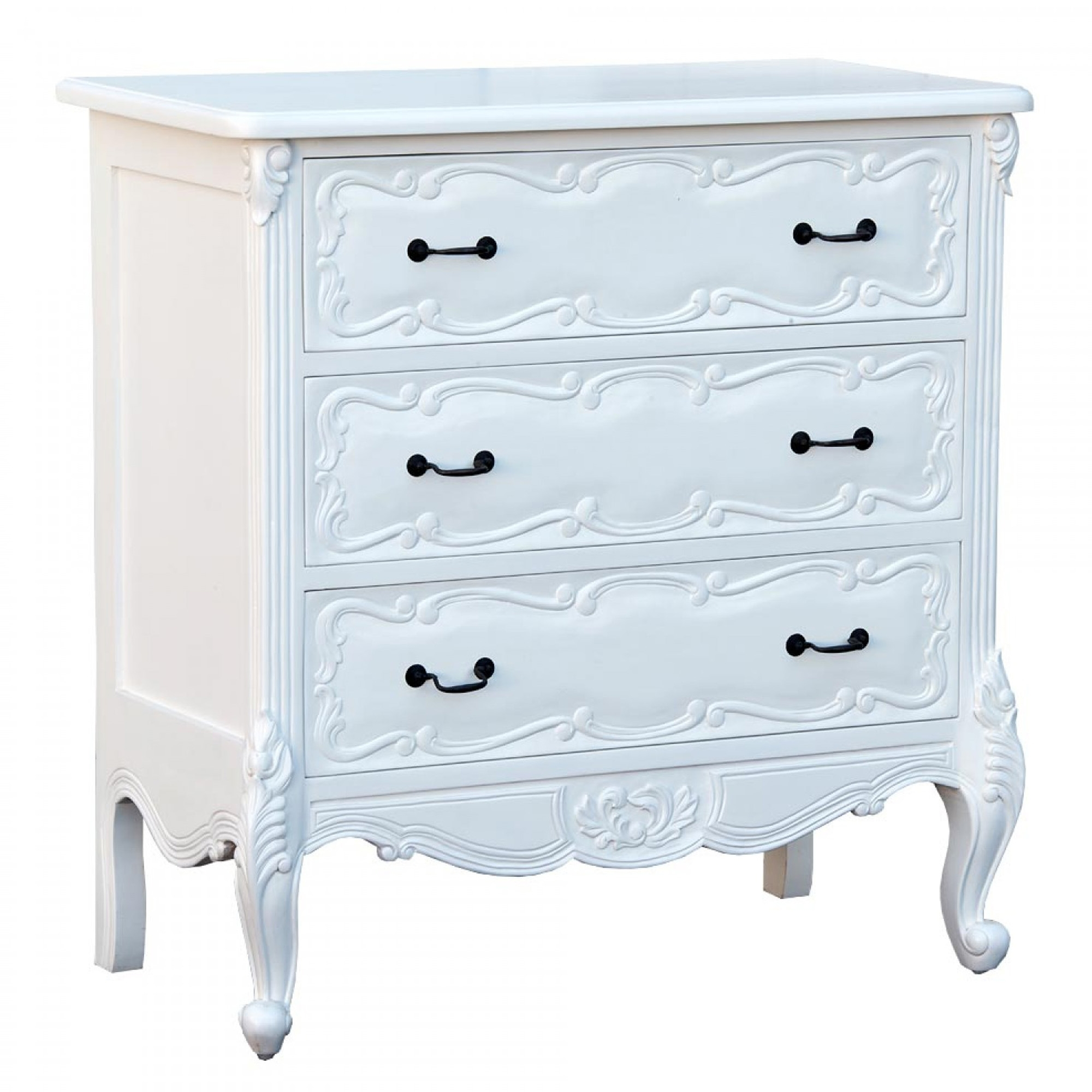 Antique French Style White Chest Of Drawers White Chest