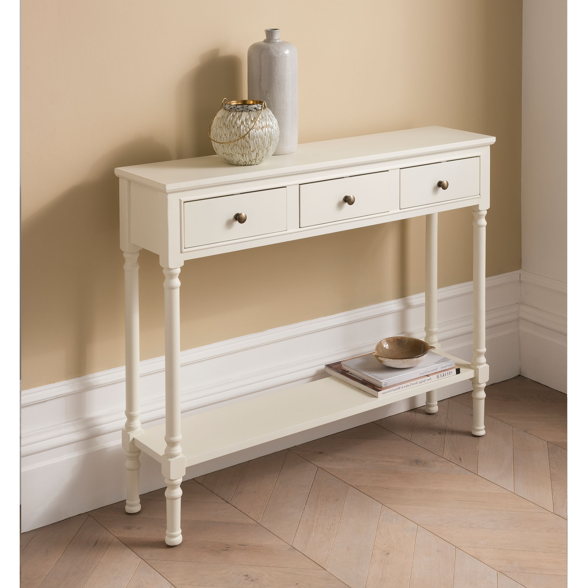 Antique French Style White 3 Drawer | White Drawer | Antique French Style
