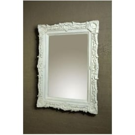 Antique French Style White Decorative Wall Mirror