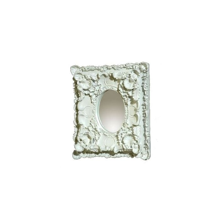 Antique French Style White Double-Frame Oval Mirror - French Mirrors ...