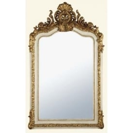 Antique French Style White/Gold Decorative Wall Mirror