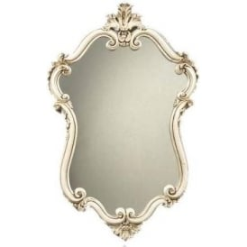 Antique French Style White Mirror 7