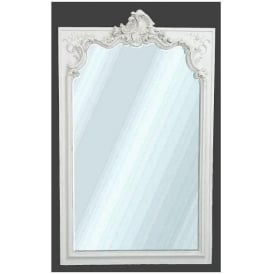 Antique French Style White Painted Wall Mirror