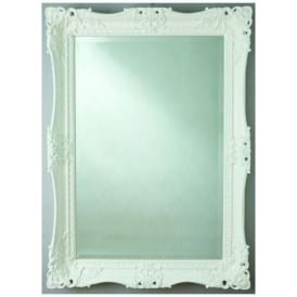 Antique French Style White Wall Mirror 2
