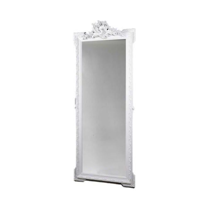 Antique French Style White Wall Mirror 6