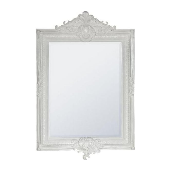 Antique French Style White Wall Mirror
