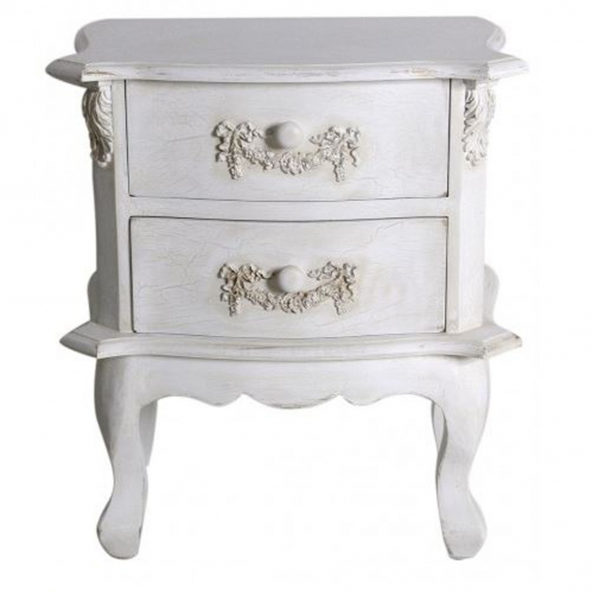 Antique French Style Wooden Bedside