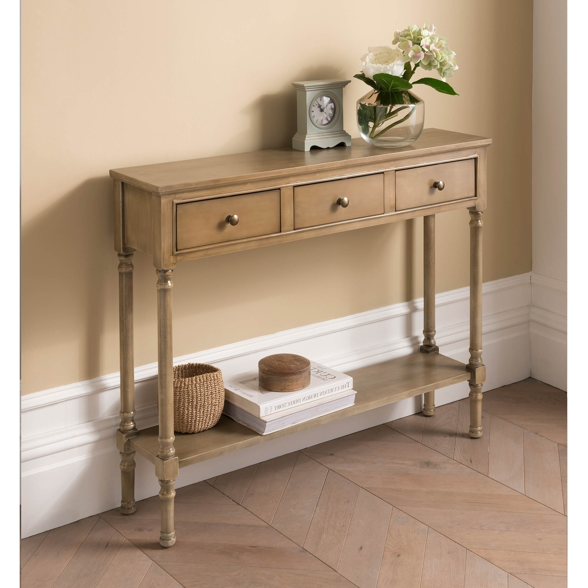 Antique French Style Wooden Console Table Shabby Chic