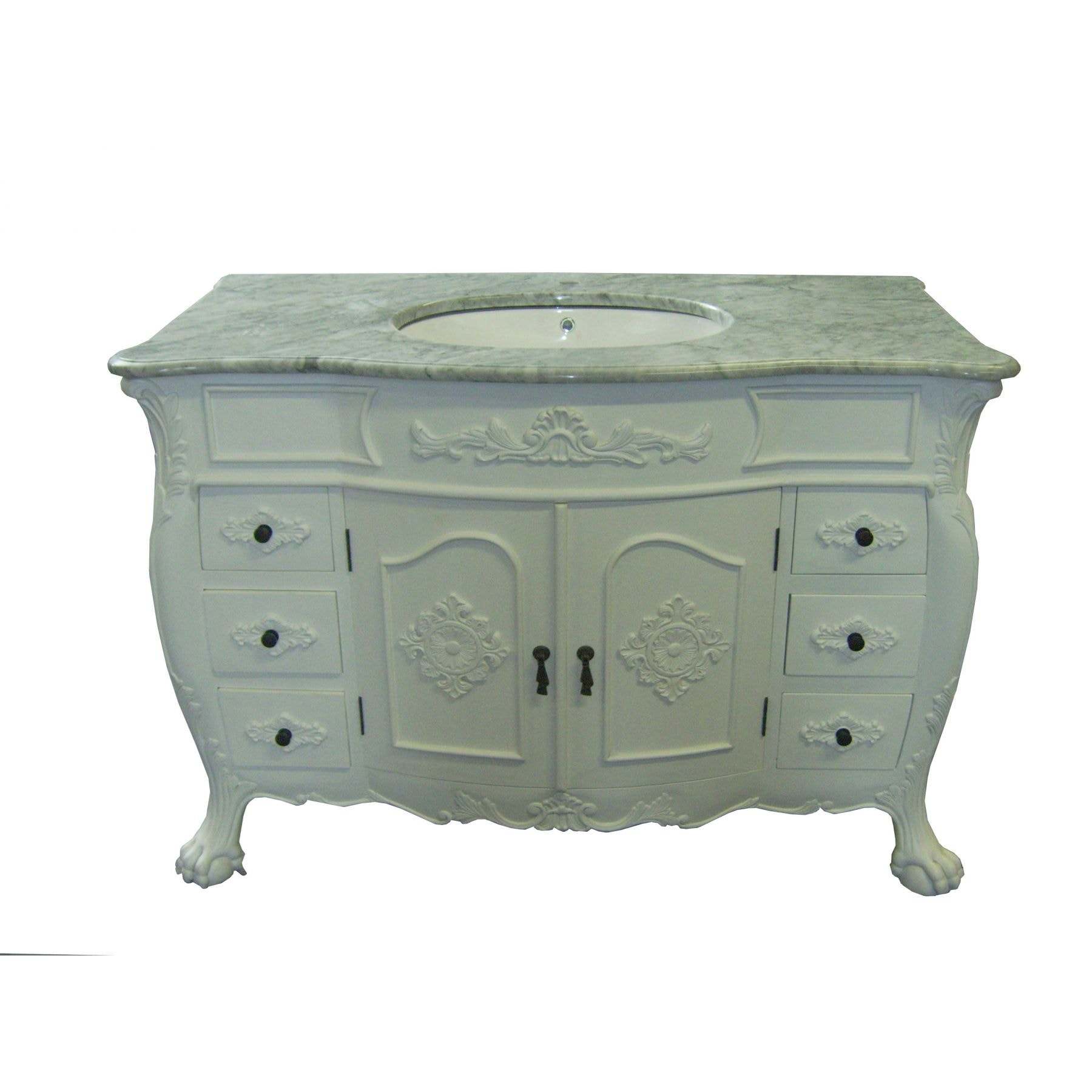 Antique french vanity unit large for Antique bathroom vanity units