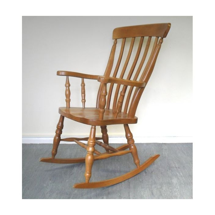 Antique French Style Wooden Rocking Chair