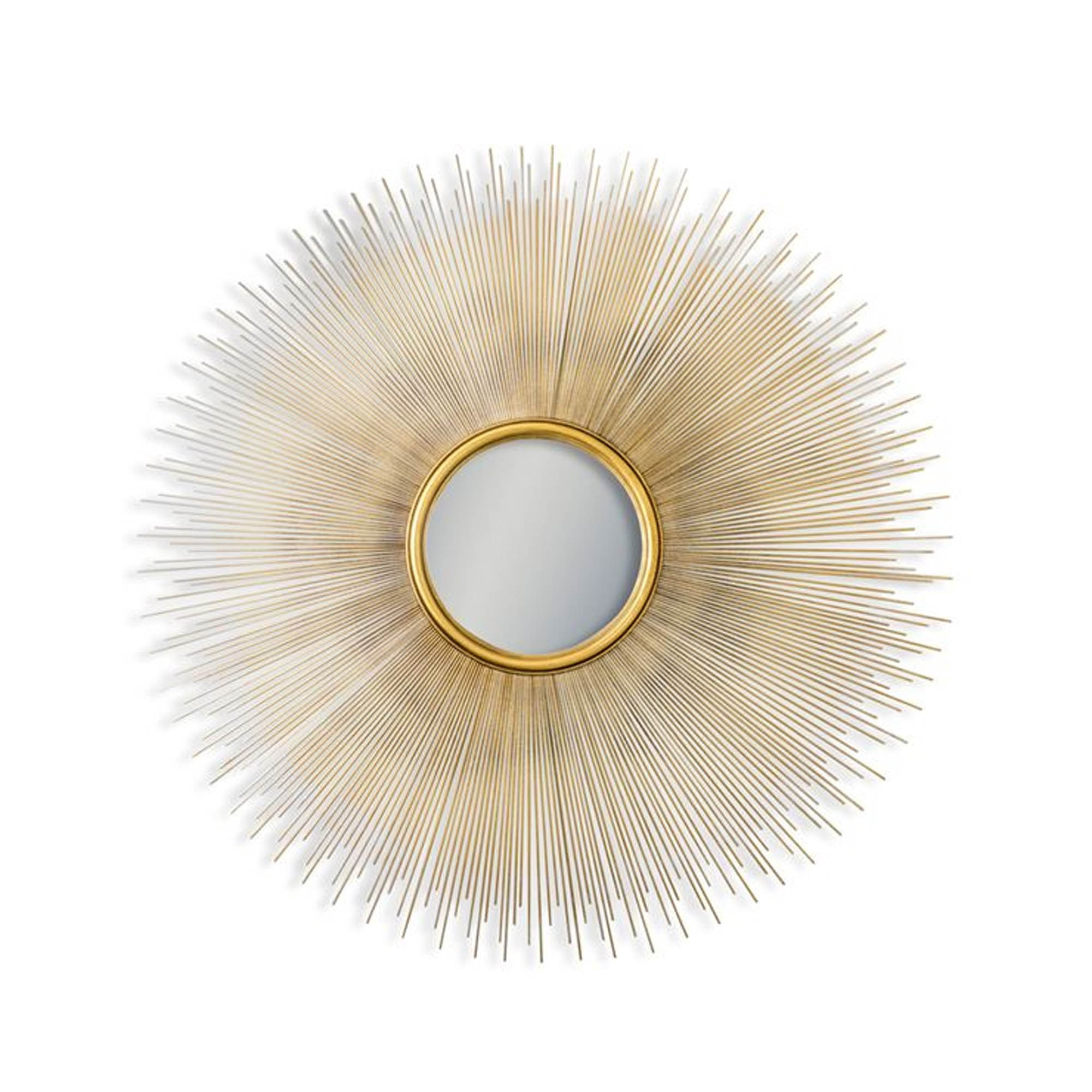 Antique Gold Sunburst Convex Wall Mirror Sunburst Wall Mirror