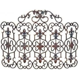 Antique Iron Fire Guard