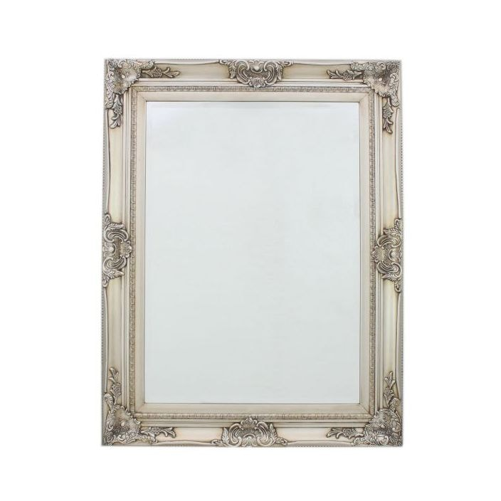Antique silver baroque small antique french wall mirror for Small silver mirror