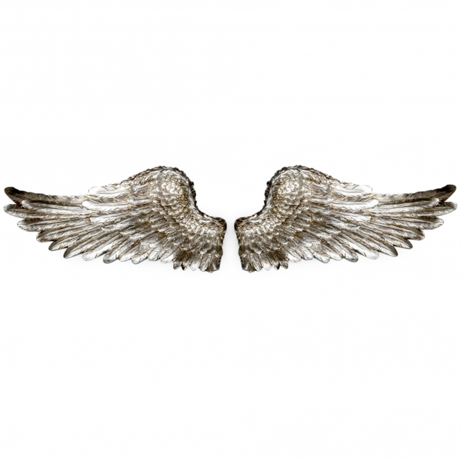 Antique Silver Pair of Angel Wings