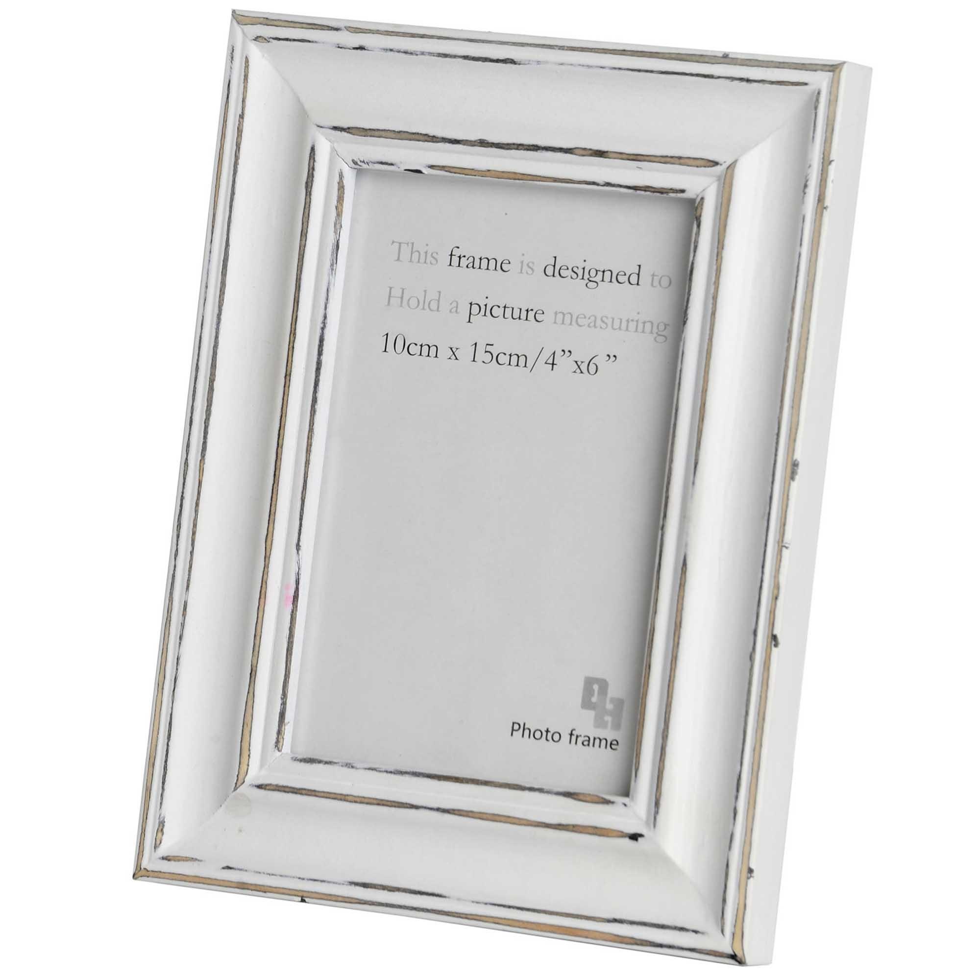 Antique White 4 x 6 Photo Frame | HomesDirect365