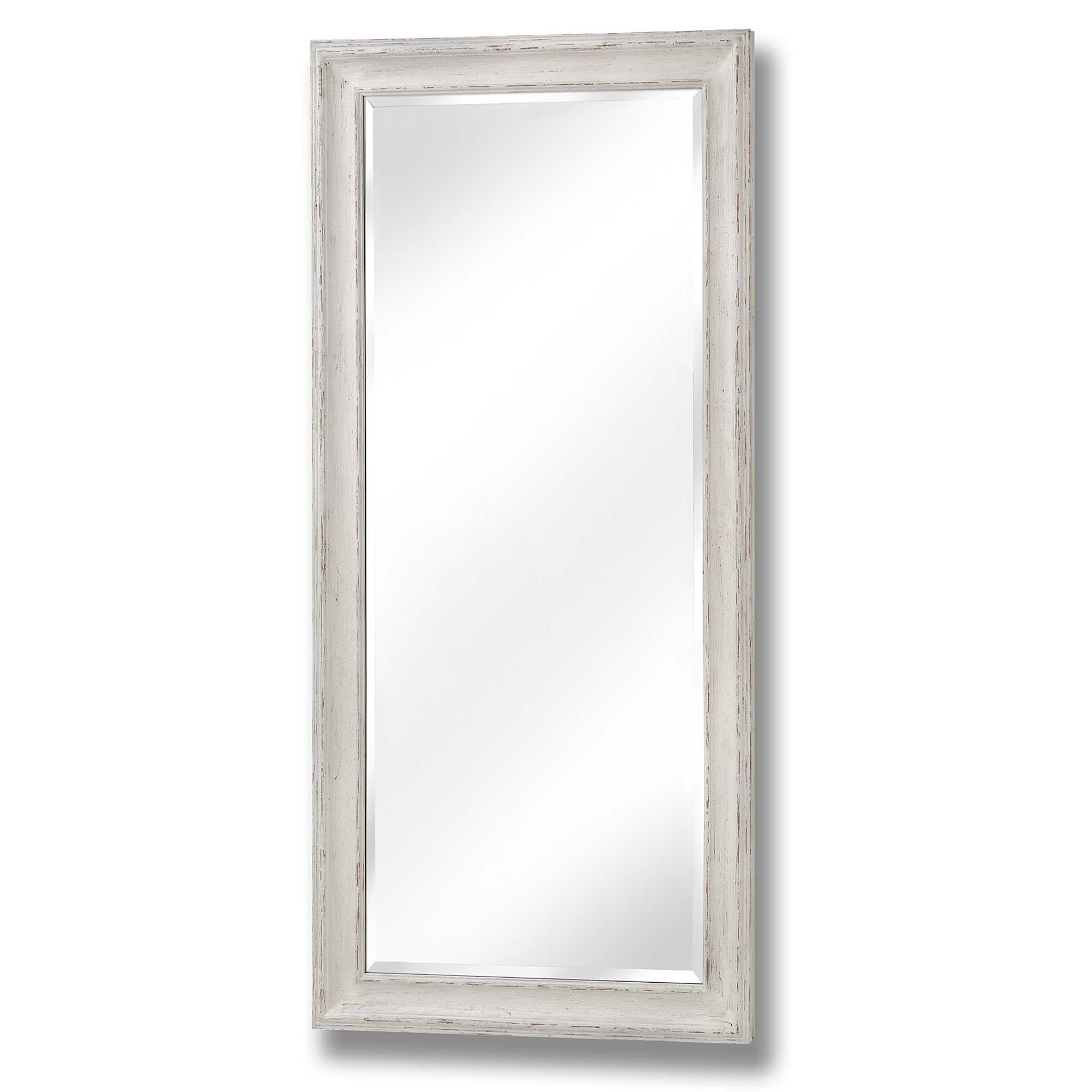 Antique White Large Rectangular Wall Mirror Homesdirect365