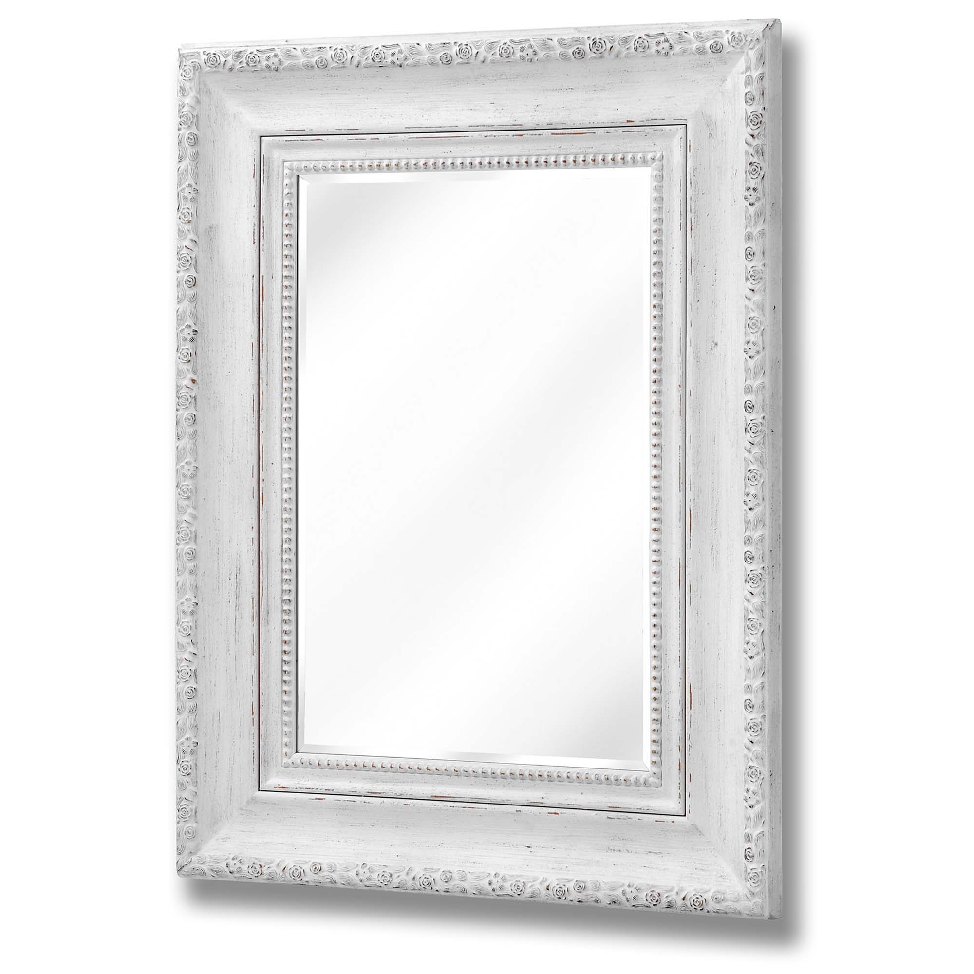 Antique White Rose Wall Mirror Wall Mirror Homesdirect365