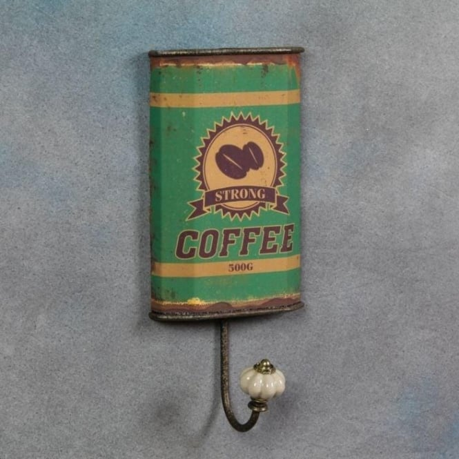 Antiqued Coffee Can Wall Hook