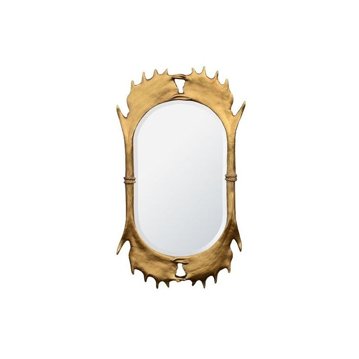 Antler Frame Mirror Gold Beveled Mirror Homesdirect365