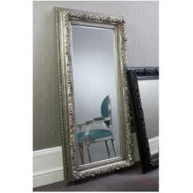 Antwerp Leaner Silver Antique French Style Mirror