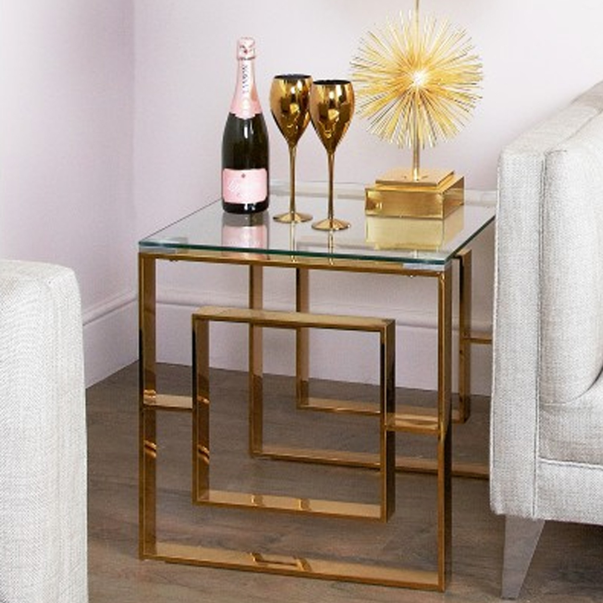 Picture of: Apex Gold Metal End Table Gold Metal End Table Metal End Table