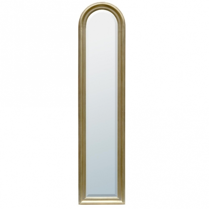 Arched Gold Antique French Style Mirror
