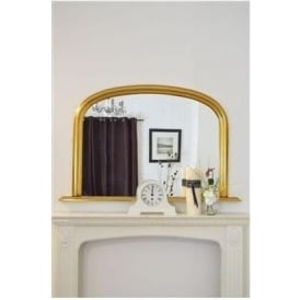 Arched Overmantle Antique French Style Mirror