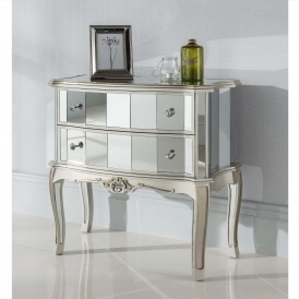 Argente Mirrored Antique French Style Chest