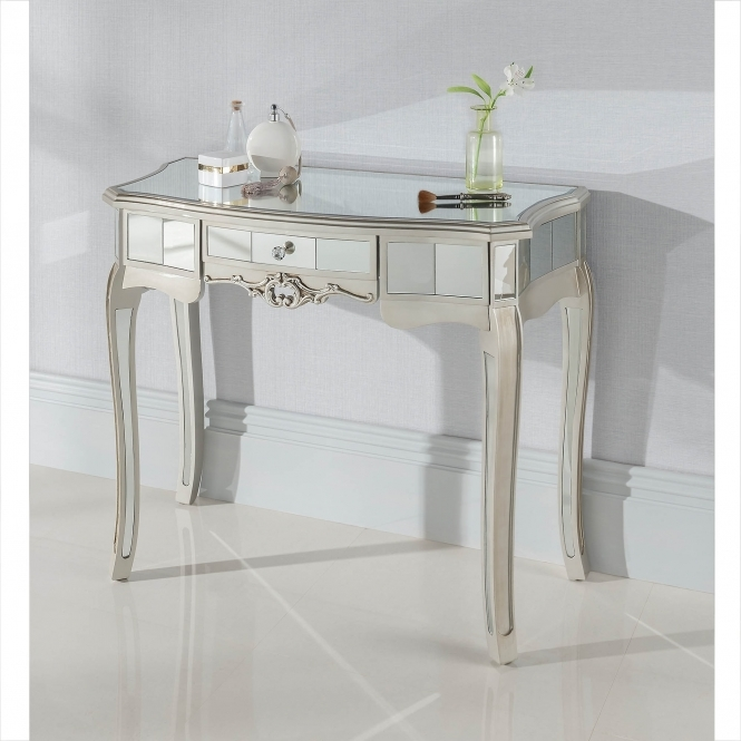 Argente Mirrored Antique French Style Dressing Table