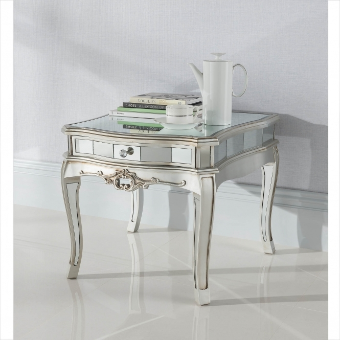 Argente Mirrored Low Table