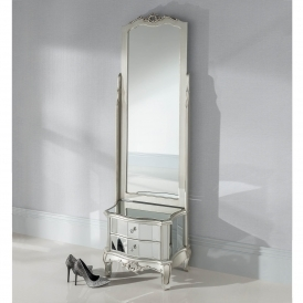 Argente Venetian Mirror & Drawer