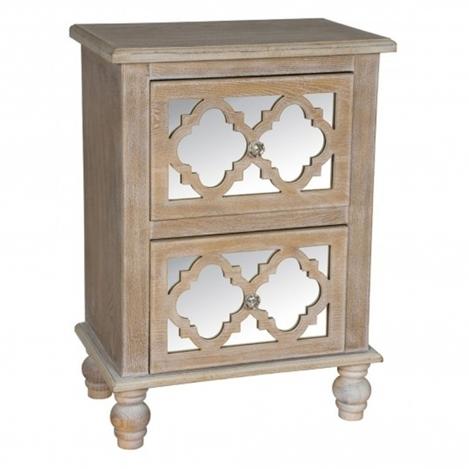 Aria 2 Drawer Shabby Chic Chest of Drawers