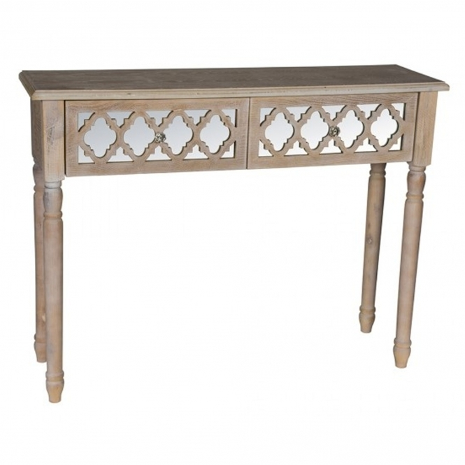 Aria 2 Drawer Shabby Chic Console Table
