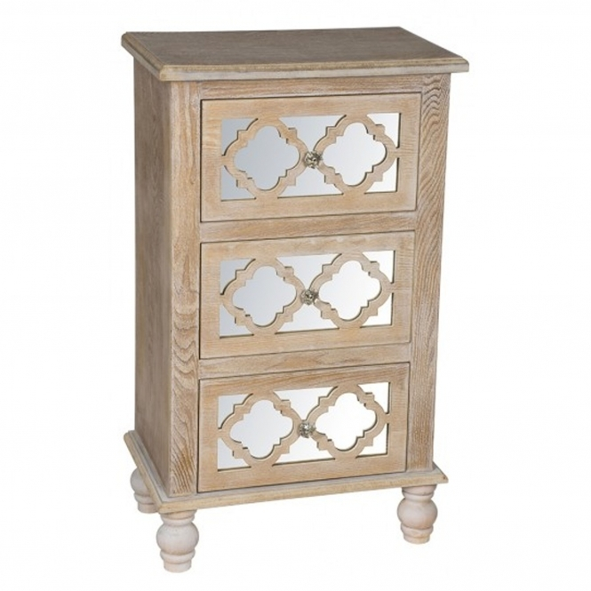 Aria 3 Drawer Shabby Chic Chest of Drawers