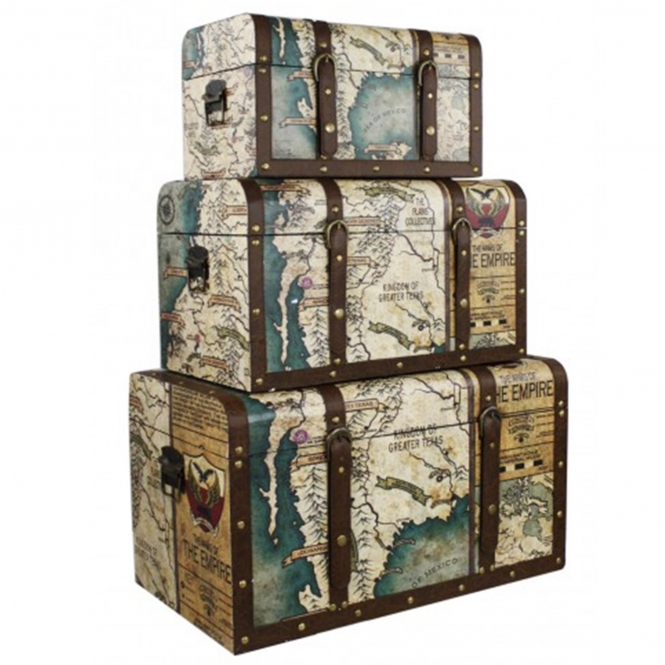 Around The World Vintage Atlas Chest Set