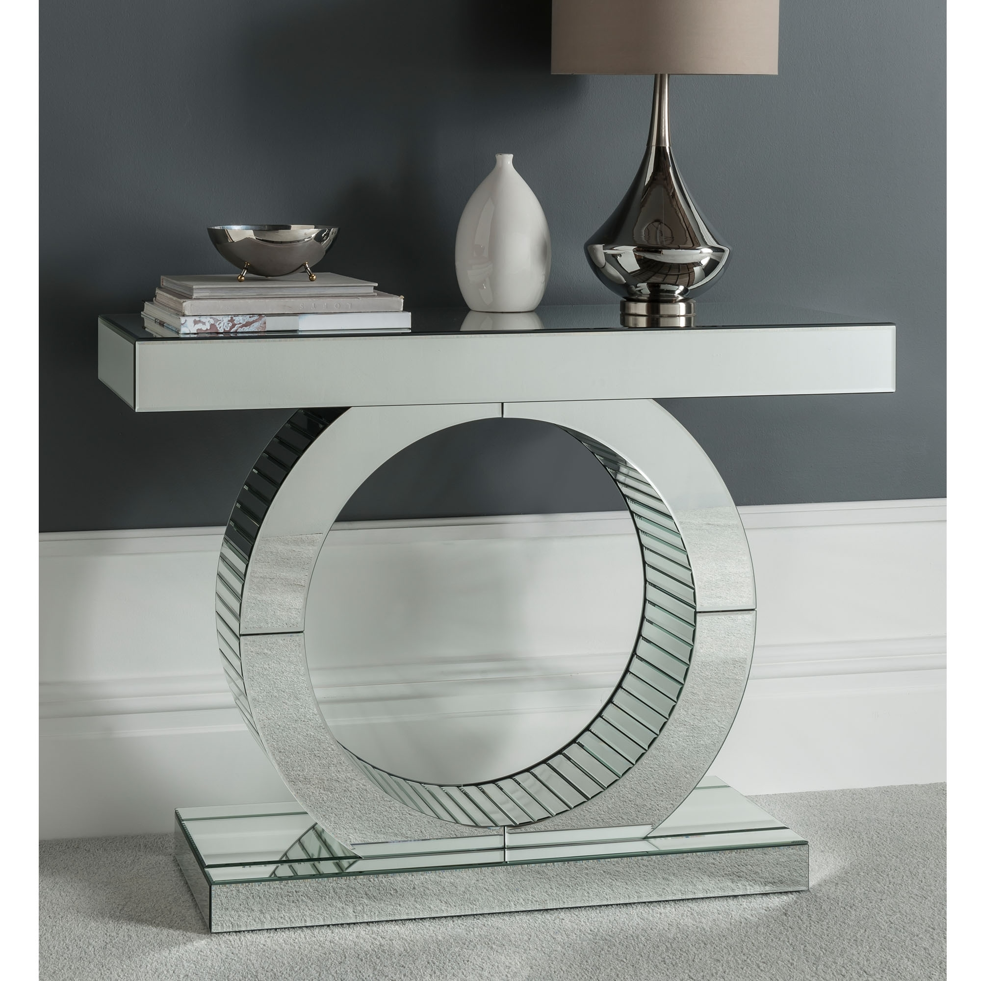 Art Deco Venetian Mirrored Console Table Glass Furniture
