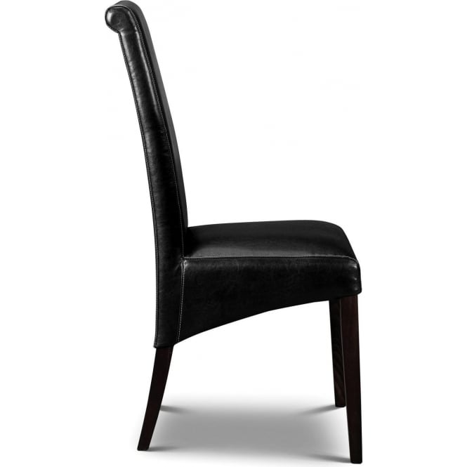 Artemis Chair Wenge Leg Black Faux Leather
