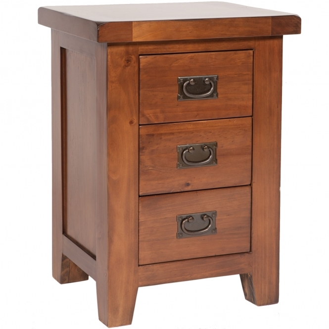 Ashley 3 Drawer Bedside Table