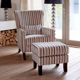 Austin Natural Accent Chair & Footstool