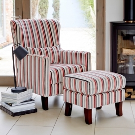 Austin Postbox Accent Chair & Footstool