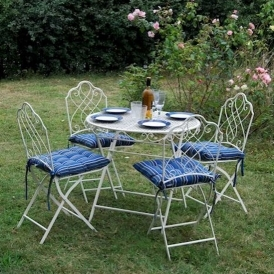 Avalon Cream (4 Chair) Antique French Style Table Set