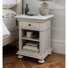 Bakersfield Grey Antique French Style Bedside Table
