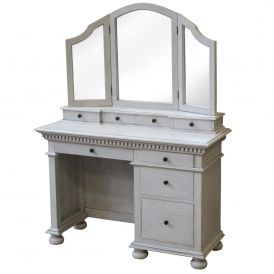 Bakersfield Grey Antique French Style Dressing Table