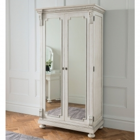 Bakersfield Grey Antique French Style Wardrobe