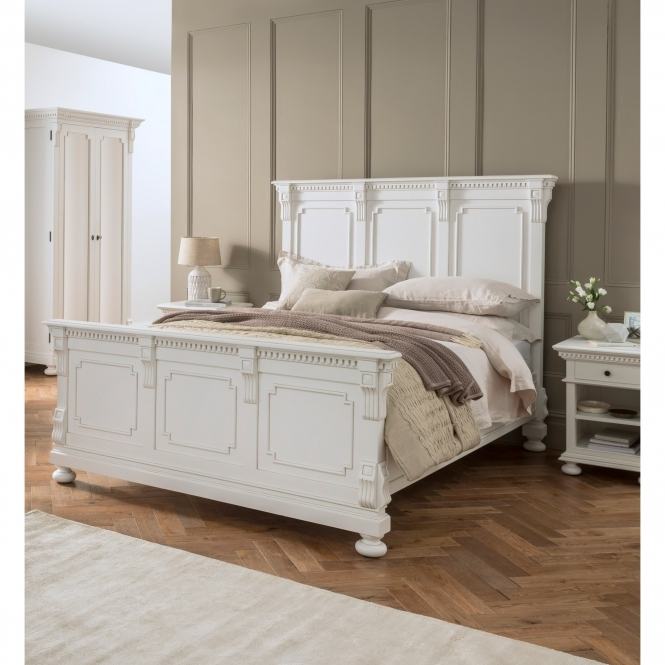 Bakersfield White Antique French Style Bed