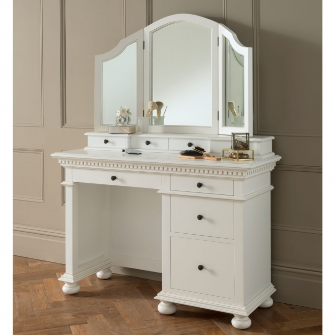Bakersfield White Antique French Style Dressing Table