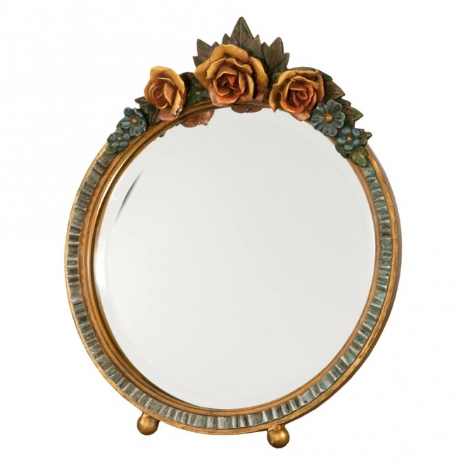 Barbola Floral Antique French Style Mirror