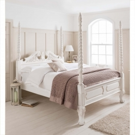 Barley Twist Four Poster Antique French Style Bed