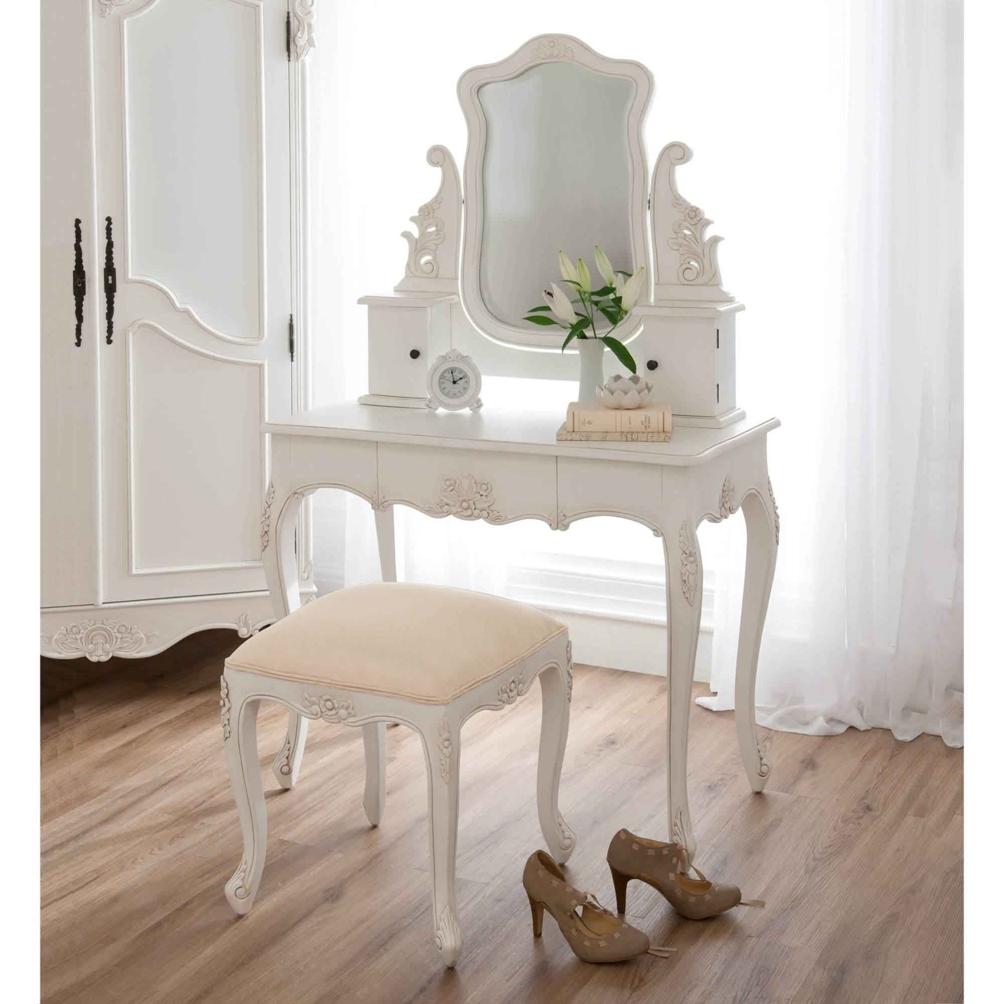 Baroque Antique French Style Dressing Table Set French