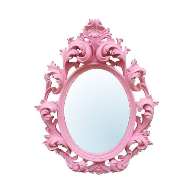 Baroque Pink Antique French Mirror